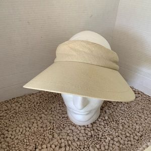 Scala wide brim women visor hat with bow back
